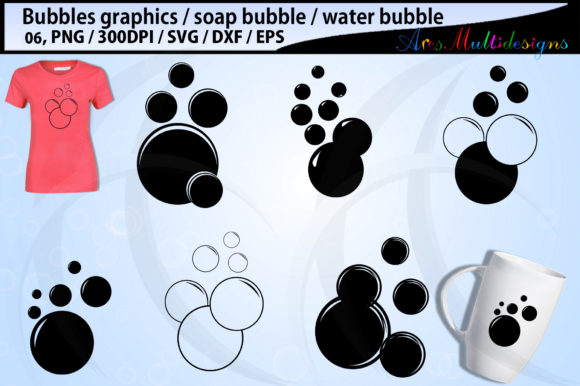 Print on Demand: Bubbles Bundle Bubbles Silhouette Gráfico Ilustraciones Por Arcs Multidesigns