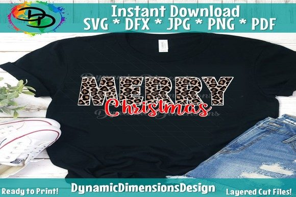 Print on Demand: Merry Christmas SVG Graphic Crafts By dynamicdimensions