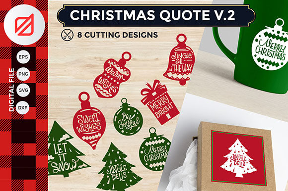 Christmas Quote V.2 Cutting File Graphic By illusatrian