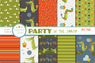 Print on Demand: Party in the Swamp Paper Graphic Patterns By poppymoondesign