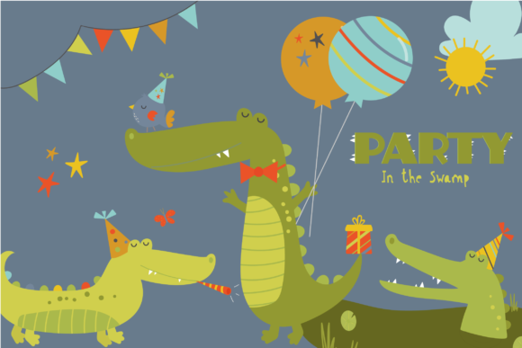 Print on Demand: Party in the Swamp Graphic Illustrations By poppymoondesign