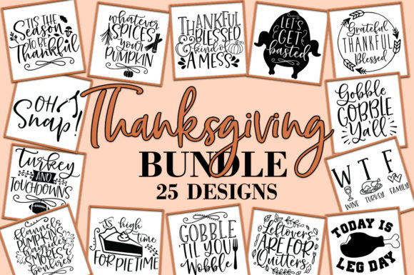Thanksgiving SVG Bundle Fall Quotes Graphic By freelingdesignhouse