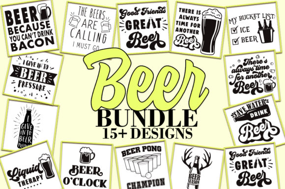 Beer SVG Bundle Graphic Crafts By freelingdesignhouse - Image 1