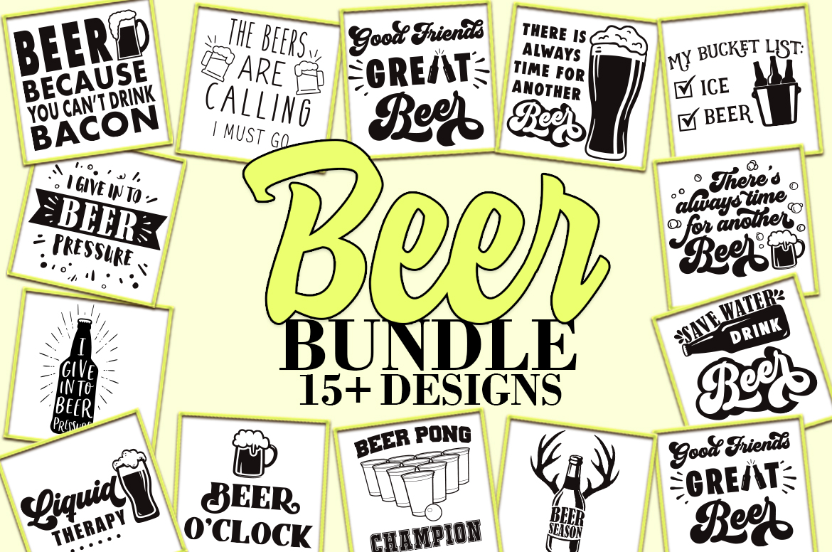Download Free Beer Bundle Graphic By Freelingdesignhouse Creative Fabrica for Cricut Explore, Silhouette and other cutting machines.