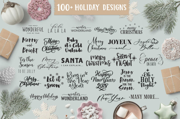 Christmas/Holiday Quotes SVG Bundle Graphic Crafts By freelingdesignhouse