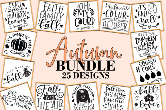 Print on Demand: Fall Autumn Bundle Graphic Crafts By freelingdesignhouse