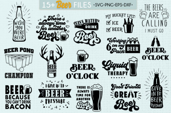 Beer SVG Bundle Graphic Crafts By freelingdesignhouse - Image 2