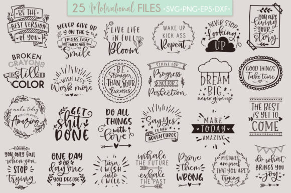 Motivational Quotes Bundle Graphic By Freelingdesignhouse
