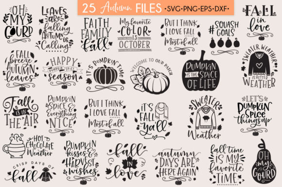 Download Free Fall Autumn Svg Bundle Graphic By Freelingdesignhouse Creative SVG Cut Files