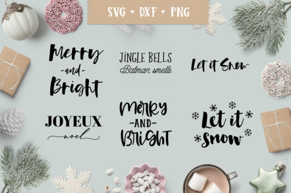 Download Free Christmas Holiday Quotes Bundle Graphic By Freelingdesignhouse for Cricut Explore, Silhouette and other cutting machines.