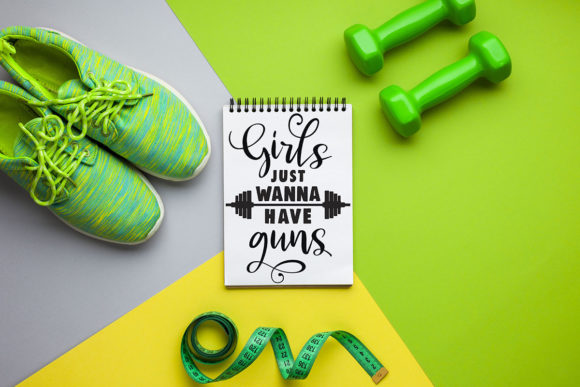Fitness SVG Bundle Workout Quotes Gym Graphic Crafts By freelingdesignhouse - Image 5