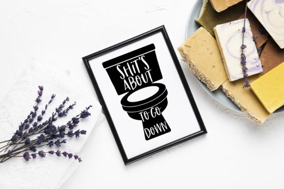 Funny Bathroom Quotes SVG Bundle Graphic Crafts By freelingdesignhouse - Image 3