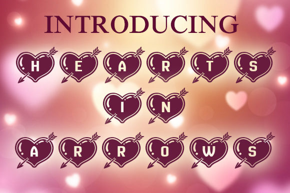 Print on Demand: Hearts in Arrows Decorative Font By vladimirnikolic - Image 1