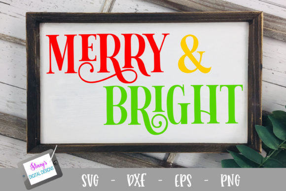 Merry and Bright Graphic Crafts By stacysdigitaldesigns