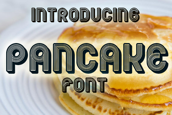 Print on Demand: Pancake Display Font By vladimirnikolic