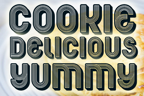 Print on Demand: Pancake Display Font By vladimirnikolic - Image 3