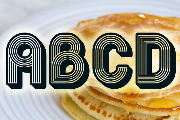 Print on Demand: Pancake Display Font By vladimirnikolic - Image 2