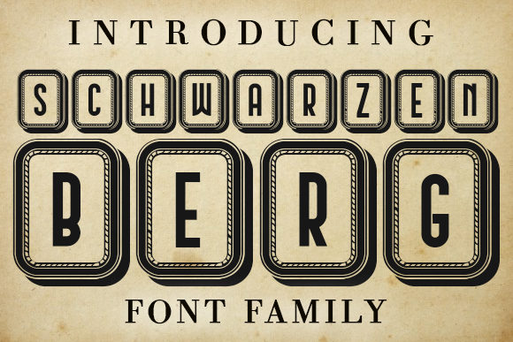 Print on Demand: Schwarzenberg Capitals Decorative Font By vladimirnikolic - Image 1
