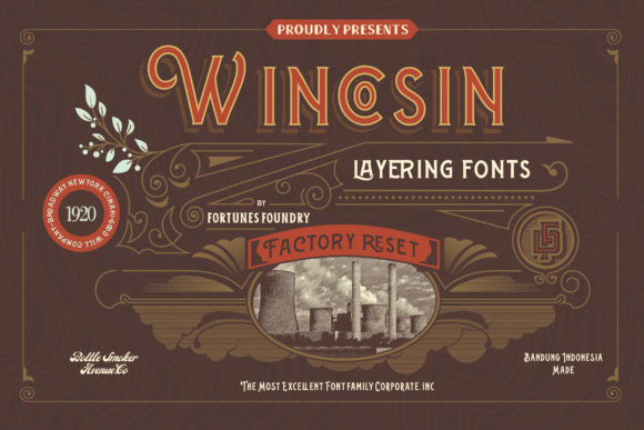 Wincosin Display Font By ramandhaninugraha