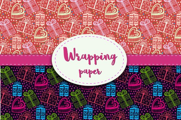 Print on Demand: Wrapping Paper. Gift Wrap Graphic Patterns By worldion