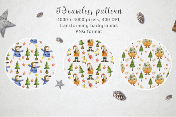 Print on Demand: Watercolor Christmas Toys Graphic Illustrations By By Anna Sokol - Image 3