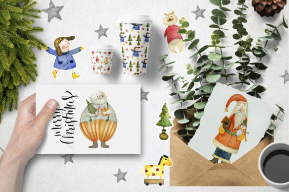Print on Demand: Watercolor Christmas Toys Graphic Illustrations By By Anna Sokol - Image 5