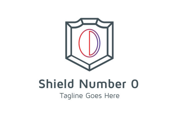 Download Free Shield Number 0 Graphic By Thehero Creative Fabrica for Cricut Explore, Silhouette and other cutting machines.