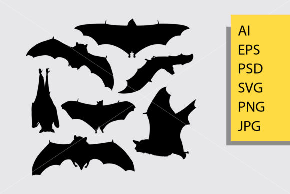 Bat Animal Silhouette Graphic Illustrations By Cove703