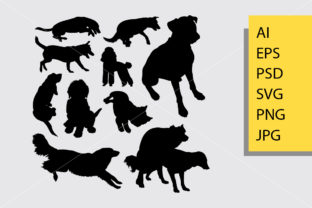 Dog Animal 10 Silhouette Graphic Illustrations By Cove703 1