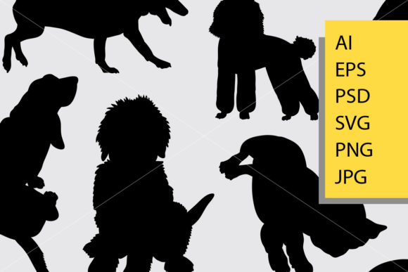 Dog Animal 10 Silhouette Graphic Illustrations By Cove703 - Image 2