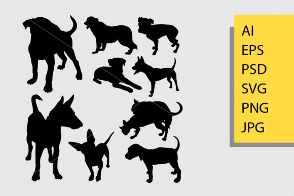 Dog Animal 13 Silhouette Graphic Illustrations By Cove703