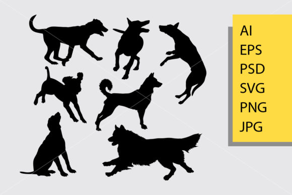 Dog Animal 19 Silhouette Graphic Illustrations By Cove703