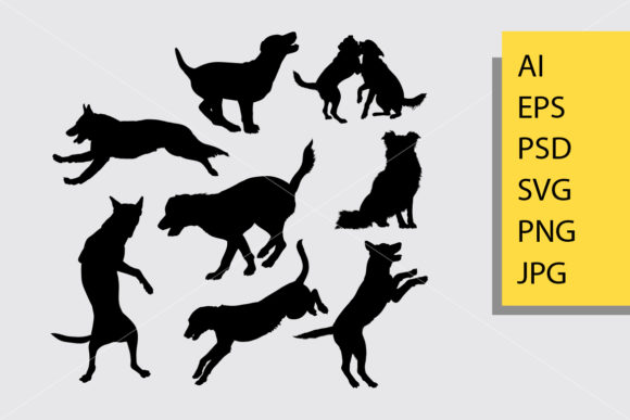 Dog Animal 18 Silhouette Graphic Illustrations By Cove703