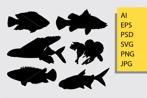 Fish Animal 2 Silhouette Graphic Illustrations By Cove703