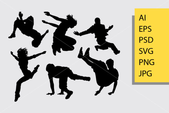 Parkour 1 Silhouette Graphic Illustrations By Cove703