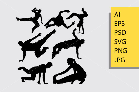 Parkour 3 Silhouette Graphic Illustrations By Cove703