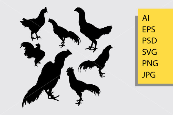 Rooster Silhouette Graphic Illustrations By Cove703
