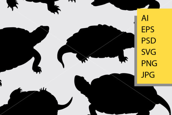 Download Free Turtle Animal Silhouette Graphic By Cove703 Creative Fabrica for Cricut Explore, Silhouette and other cutting machines.