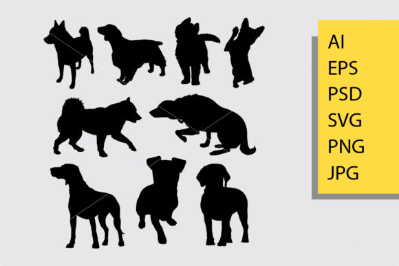 Dog Animal 1 Silhouette Graphic By Cove703