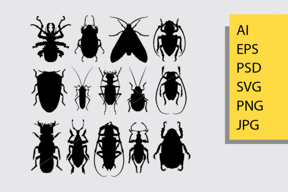 Bug 1 Animal Silhouette Graphic Illustrations By Cove703 - Image 1