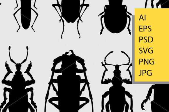 Download Free Bug 1 Animal Silhouette Graphic By Cove703 Creative Fabrica for Cricut Explore, Silhouette and other cutting machines.