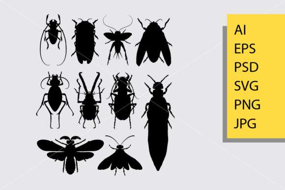 Insect 1 Animal Silhouette Graphic Illustrations By Cove703