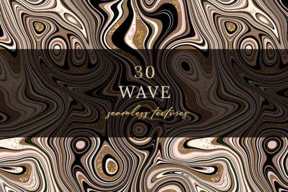 Print on Demand: 30 Wave Seamless Textures. Graphic Patterns By billcreativestore