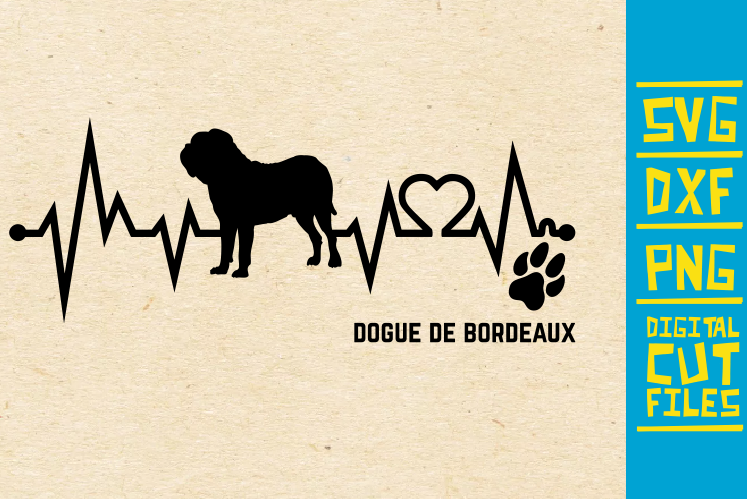 Download Free Dogue De Bordeaux Dog Svg Graphic By Svgyeahyouknowme Creative for Cricut Explore, Silhouette and other cutting machines.
