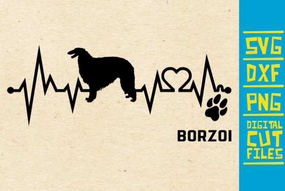 Download Free Borzoi Dog Graphic By Svgyeahyouknowme Creative Fabrica for Cricut Explore, Silhouette and other cutting machines.