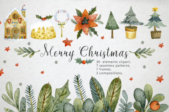 Christmas Set Graphic By By Anna Sokol