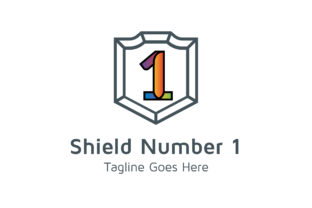 Download Free Shield Number 1 Graphic By Thehero Creative Fabrica for Cricut Explore, Silhouette and other cutting machines.