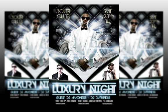 Print on Demand: Luxury Night Party Graphic Print Templates By Matthew Design