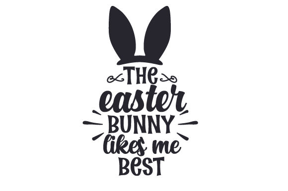 Download Free The Easter Bunny Likes Me Best Svg Cut File By Creative Fabrica for Cricut Explore, Silhouette and other cutting machines.