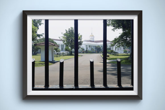 See the Palace from Behind an Iron Fence Graphic Nature By Kerupukart Production - Image 1
